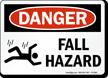 Fall Hazard OSHA Danger Sign