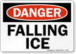 Danger Falling Ice Sign