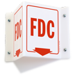 FDC Projecting Sign