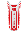 180 Degree Projecting Fire Alarm Sign with arrow