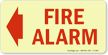 Fire And Emergency Glow-In-The-Dark Sign onmouseover =