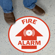 Circular Fire Alarm SlipSafe Floor Sign
