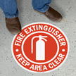 Fire Extinguisher Circular Anti-Skid Floor Sign