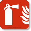 GlowSmart™ Fire Extinguisher Emergency Marker Sign