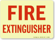 Fire Extinguisher (red on white)