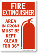 Fire Extinguisher Area Clear Sign
