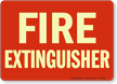 Fire Extinguisher (white on red)