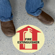Fire Extinguisher Inside With Graphic Sign