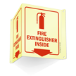 Glow-In-The-Dark Projecting Fire Extinguisher Inside Sign