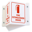 Projecting Fire Extinguisher Inside Sign