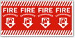 Fire Extinguisher Reflective Column Marker Sign