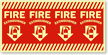 Fire Extinguisher Glow-in-Dark Column Marker Sign