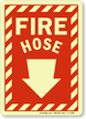 Fire Hose (with Arrow Down) Sign