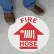 SlipSafe™ Fire Hose Floor Sign