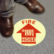 Glow-In-The-Dark SlipSafe™ Fire Hose Floor Sign