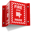 Fire Hose Inside Sign with Graphic