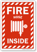 Fire Hose Inside Sign with Graphic and Border