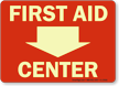 First Aid Center (Down Arrow)