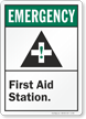 Emergency (ANSI) Sign