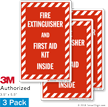 Fire Extinguisher and First Aid Kit Inside Label Set