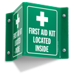 First Aid Kit Projecting Sign