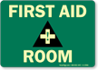 First Aid Room (graphic) Sign