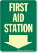First Aid Station (Arrow Down)