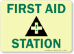 First Aid Station (graphic) Sign