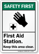 ANSI Safety First Sign