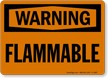 Flammable OSHA Warning Sign