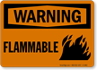 OSHA Warning Flammable Sign with Fire Flame Graphic