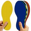 6 to 12 Inch Durable Floor Marking Footprints