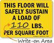 Floor Will Safely Sustain Load of Sign