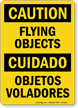 Flying Objects / Objetos Voladores Bilingual Sign