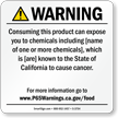 Food Exposure Prop 65 Sign