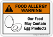 Food May Contain Egg Allergy Warning Sign