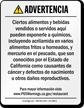 Spanish ShowCase™ California Prop 65 Sign