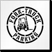 Fork Truck Parking Stencil