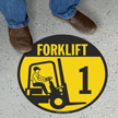 Forklift -1 (with Graphic) - Floor Sign