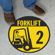 Forklift Floor Sign
