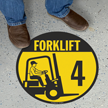 Forklift -4 (with Graphic) - Floor Sign
