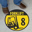 Forklift -8 (with Graphic) - Floor Sign