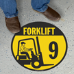 Forklift -9 (with Graphic) - Floor Sign