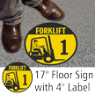 Forklift ID 1 Floor Sign & Label Kit
