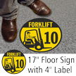 Forklift ID 10 Floor Sign & Label Kit