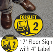 Forklift ID 2 Floor Sign & Label Kit