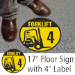 Forklift ID 4 Floor Sign & Label Kit