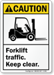Caution (ANSI) Forklift Traffic Sign