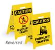 Caution Forklift Traffic No Pedestrian Traffic Floor Sign
