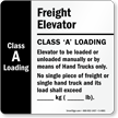6in. x 6in. Freight Elevator Sign